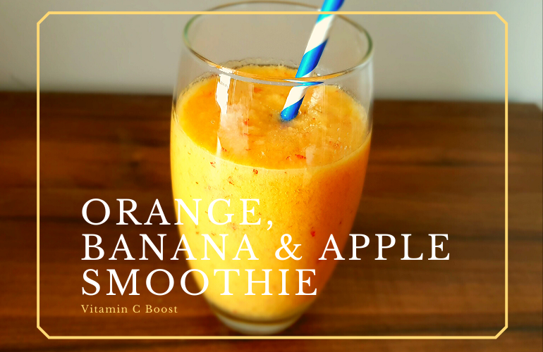 Orange, Banana & Apple Smoothie
